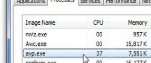 Что за процесс avp.exe, почему грузить систему?