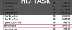 Удаляем рекламный вирус HD Task