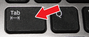 Что за стрелочки на клавише Tab и как ее применять
