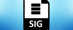 Какой программой открыть файл SIG
