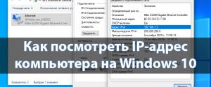 Как узнать и где посмотреть свой IP-адрес компьютера на Windows 10