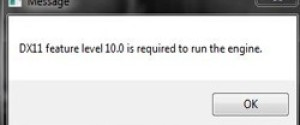"Что делать с ошибкой ""DX11 feature level 11.0 is required to run the engine"""