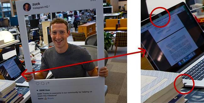 Марк Цукерберг и его нуотбук