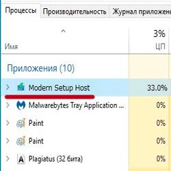 Modern Setup Host — что это за процесс грузит диск?