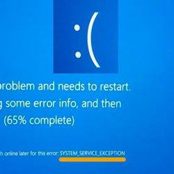 Как исправить SYSTEM SERVICE EXCEPTION Windows 10