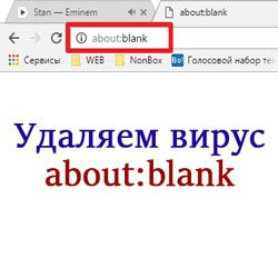 about blank — как удалить вирус из Яндекс, Google Chrome