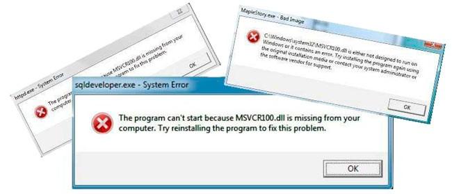 Отсутствует Msvcr100.dll — как исправить ошибку Windows 10 8 7