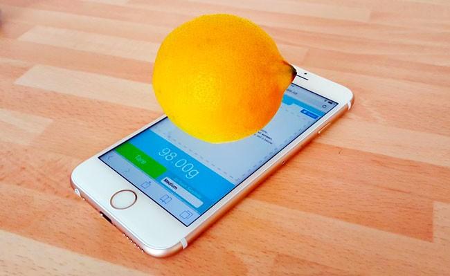 телефон в качестве весов
