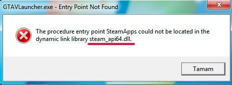 отсутствует библиотека steamapi64