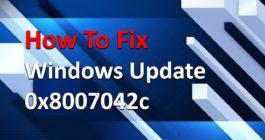 Как исправить ошибку 0x8007042c, если не работает обновление Windows 10