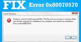 Причины ошибки 0x80070570 при установке ОС Windows 10 и 8 способов исправления