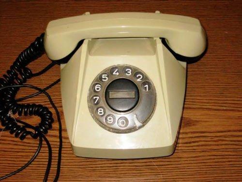 Старый дисковый телефон