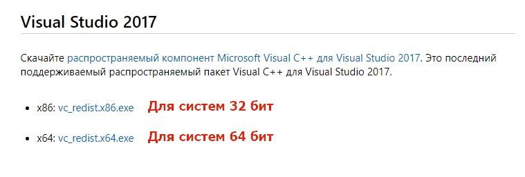 Ссылки на версии MVC++