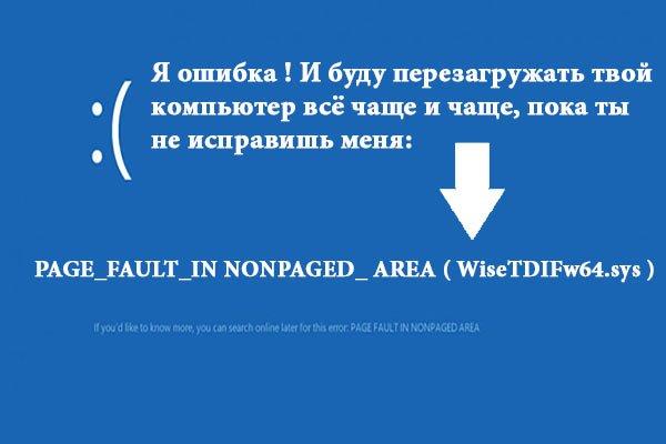 Синий экран с кодом остановки PAGE_FAULT