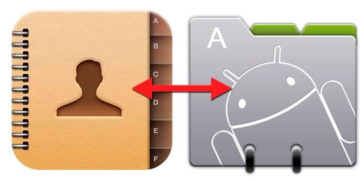перенос контактов между Android гаджетами