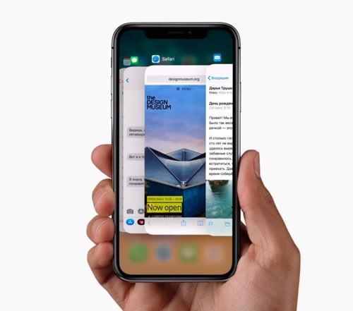 Активные приложения Айфон х