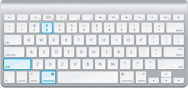 Клавиши для снимка экрана на Маке