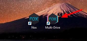 Значки на рабочем столе от Nox