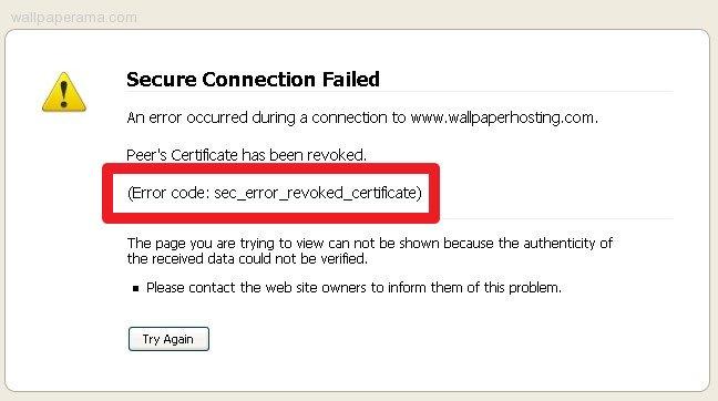 код ошибки revoked certificate