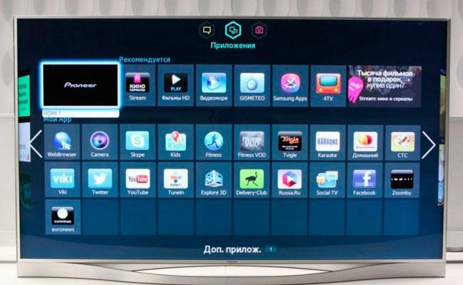 Интерфейс Smart ТВ