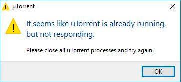 Торрент запущен но не отвечает