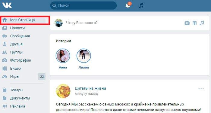 Ссылка на мою страницу Вконтакте