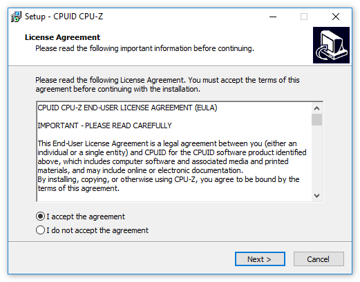 CPU-Z установка