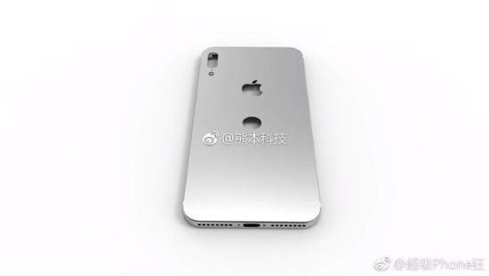 тыльная сторона корпуса Айфон 8
