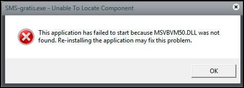 отсутствует файл msvbvm50 dll