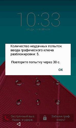 Экран блокировки пароля Андроид