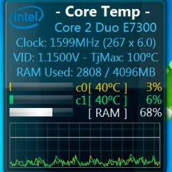 Скачать Core Temp Gadget Windows 7 / 8 / 10