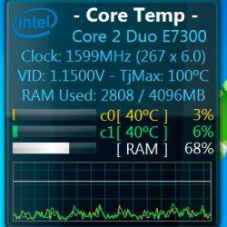 Виджет температуры компьютера