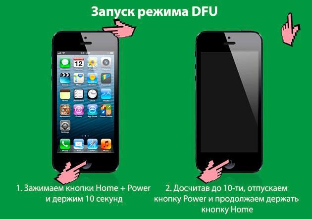 Кнопки для входа в режим DFU