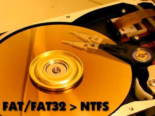 Меняем файловую разметку на FAT32