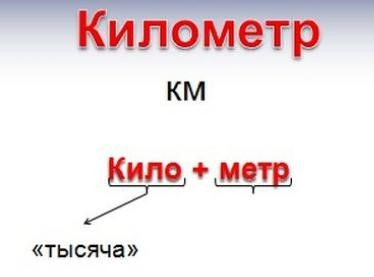 """Расшифровка """"км"""""""