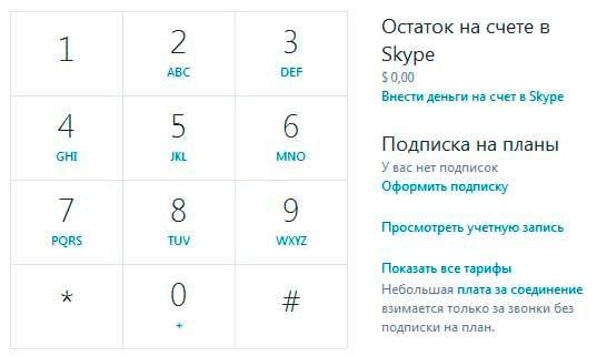 Звонки через Skype