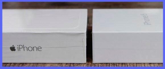 различия в упаковке Айфона и подделки