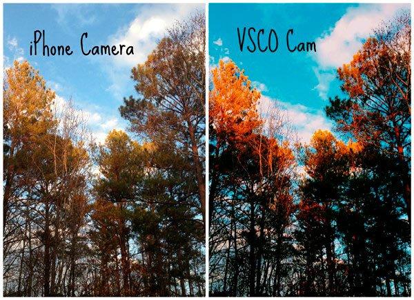 Отличия в снимках сделанных на Айфон и с VSCO Cam
