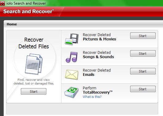 Интерфейс программы Search and Recover