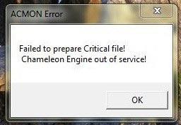 Acmon error