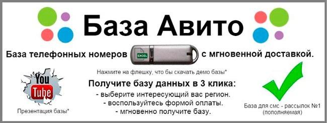 Avito - объявление о продаже номеров