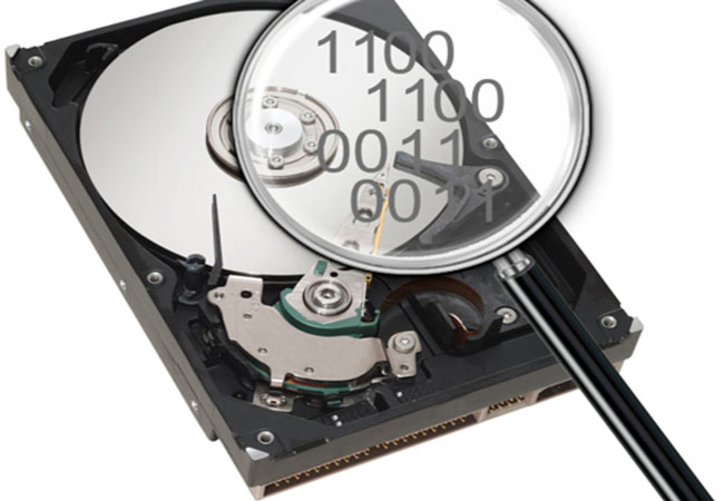 Лупа ищет файлы на HDD