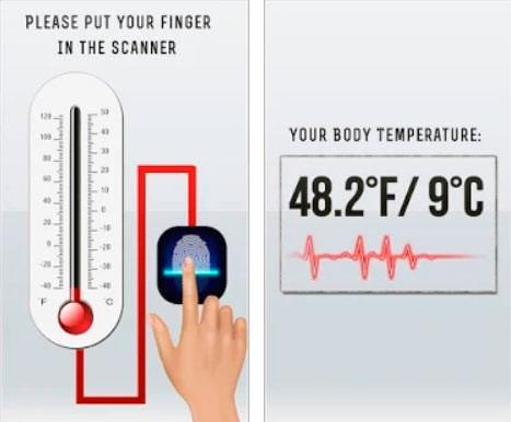 Приложение для измерения температуры тела