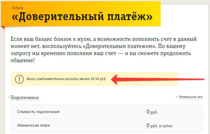 Сумма затрат менее 50 рублей