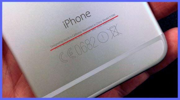 Обозначения сертификатов на задней панели Айфона