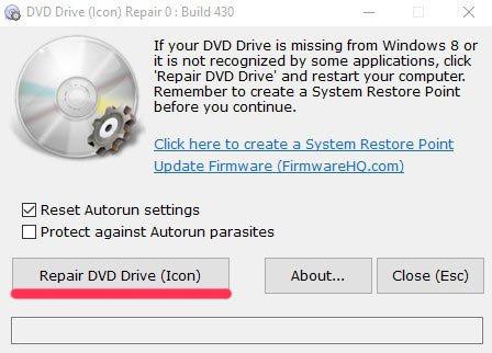 Утилита repair dvd