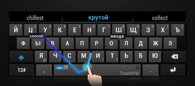 Свайп на клавиатуре