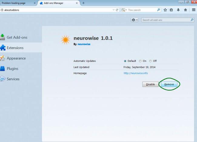 Отключение компонентов Mozilla Firefox