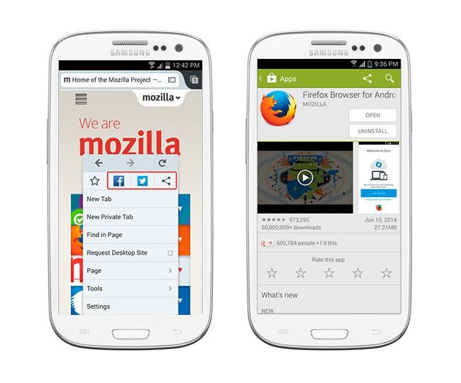 Фаерфокс для Android