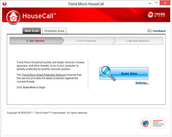Интерфейс программы HouseCall